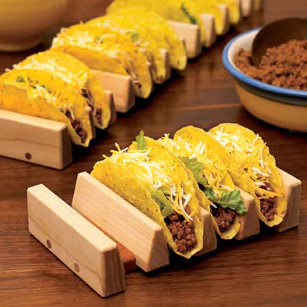 No Tip Taco Holder Woodworking Plan From Wood Magazine