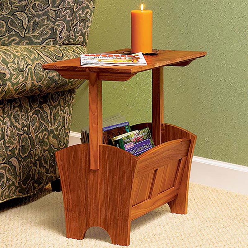 Magazine RackTable Woodworking Plan From WOOD