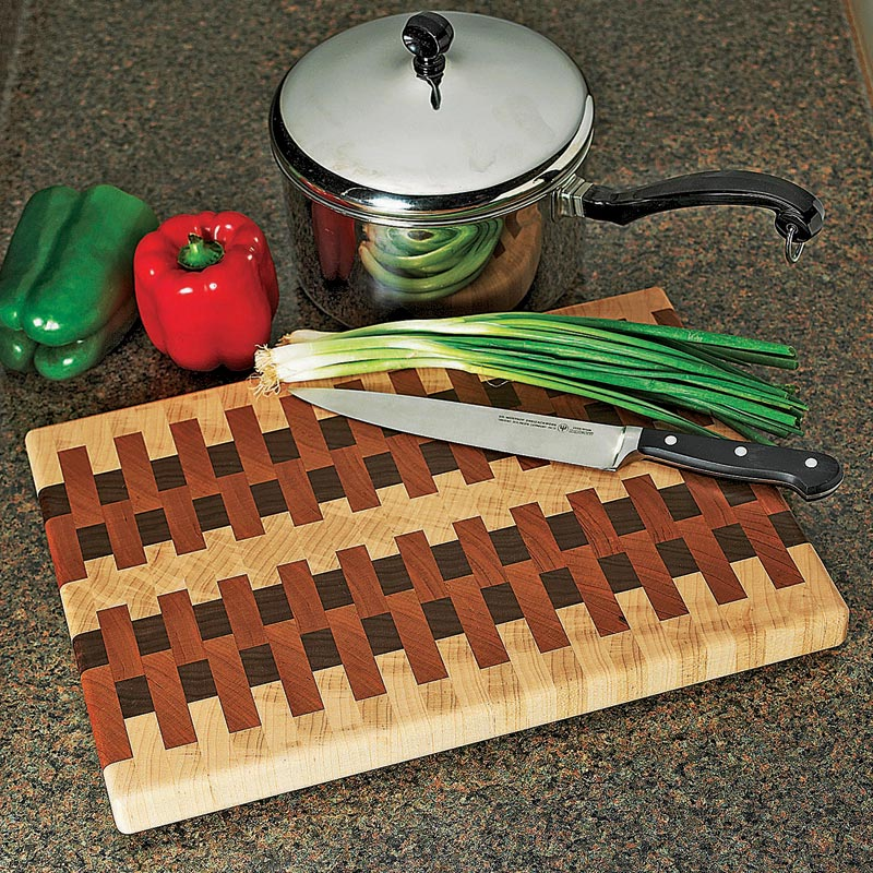 end grain cutting board woodworking plan from wood magazine. Black Bedroom Furniture Sets. Home Design Ideas