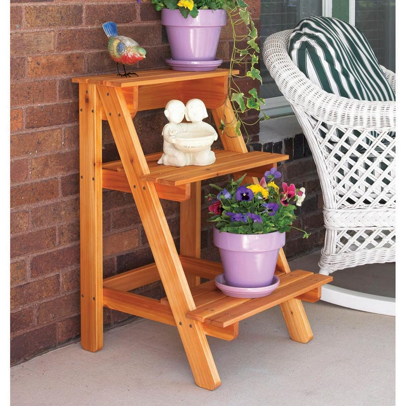 step by step plant stand woodworking plan from wood magazine