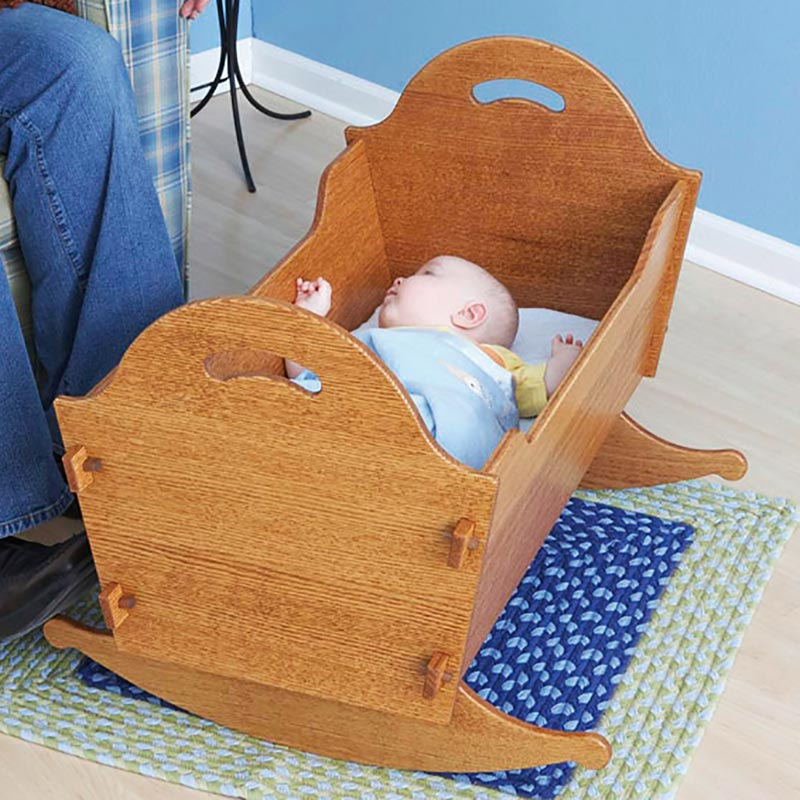 Heirloom Cradle With Storage Box Woodworking Plan From
