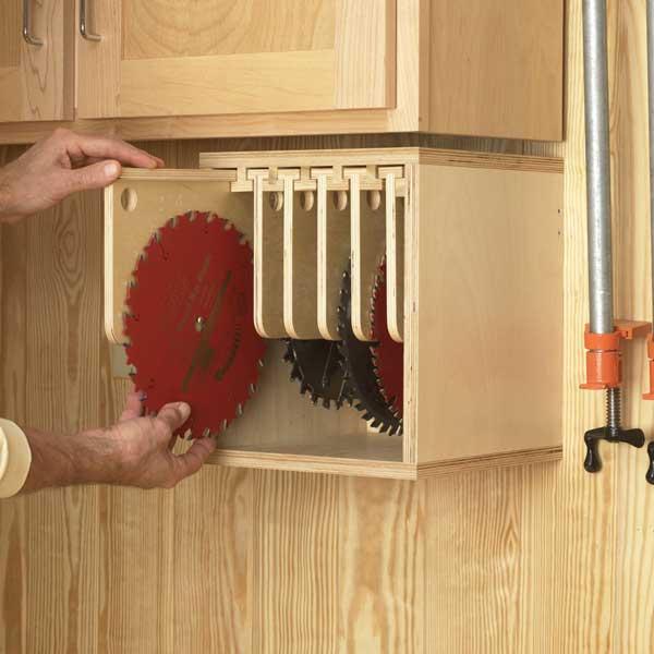 Tablesaw Blade Locker Woodworking Plan From Wood Magazine