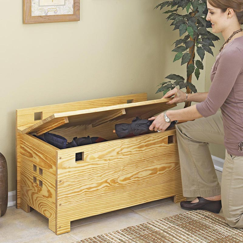 New Storage Bench Woodworking Plans  WoodShop Plans