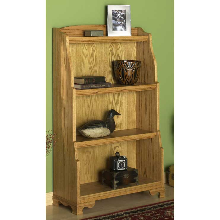 Oak Furniture Projects ~ Solid oak bookcase woodworking plan from wood magazine