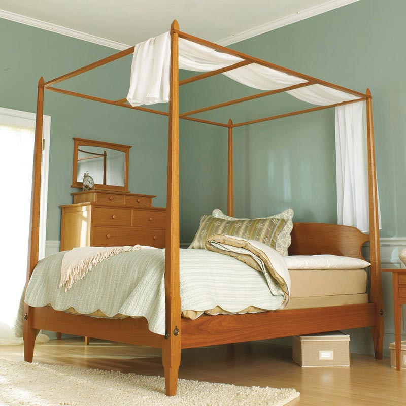Pencil post bed woodworking plan from wood magazine - Woodworking plans bedroom furniture ...