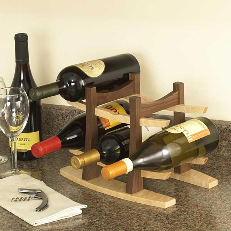 Wine Rack Woodworking Plan from WOOD Magazine