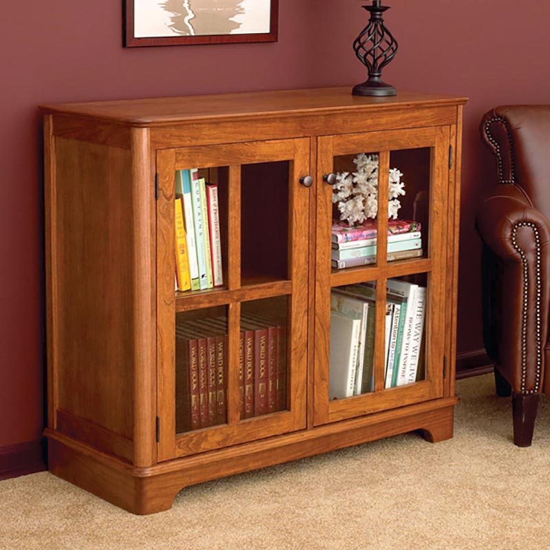 Glass door bookcase woodworking plan from wood magazine glass door bookcase planetlyrics Choice Image