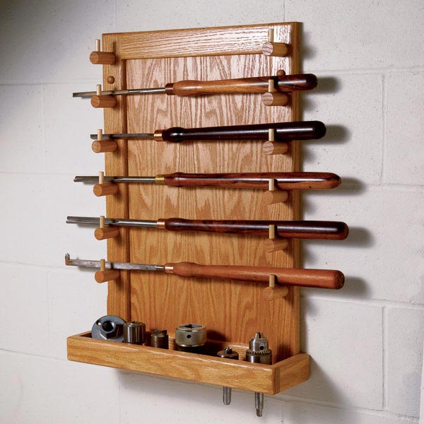 Easy-Access Lathe Tool Rack Woodworking Plan from WOOD ...