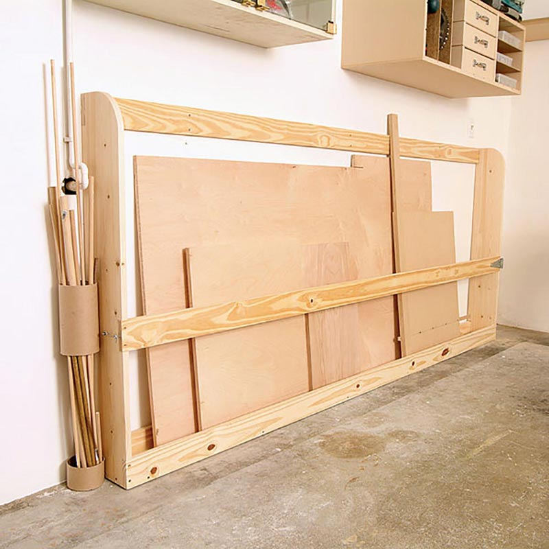 Sheet goods rack woodworking plan from wood magazine for Plan storage racks