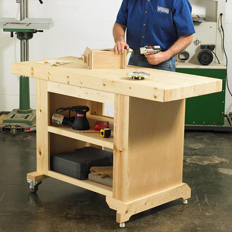 The 10 Best Garage Workbench Builds: Budget-Friendly Workbench Woodworking Plan From WOOD Magazine