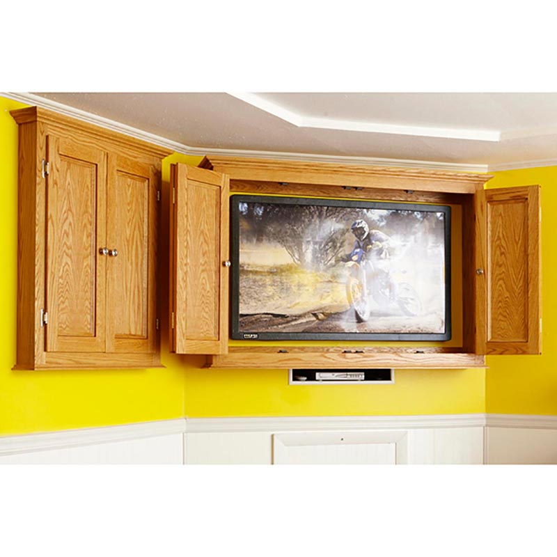 Slim Profile Tv Game Cabinet Woodworking Plan From Wood