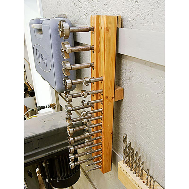 Hanging Forstner Bit Holder Woodworking Plan From Wood