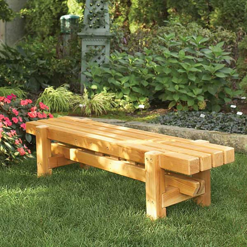 Durable Doable Outdoor Bench Woodworking Plan from WOOD