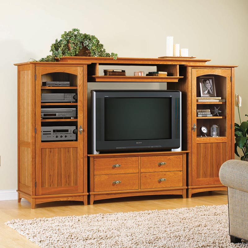 entertainment center set woodworking plan from wood magazine