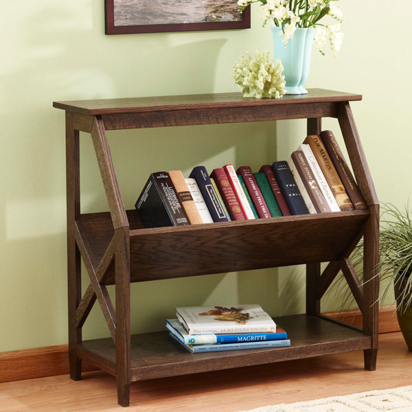 Built-with-a-tilt Book Nook Bookcase Woodworking Plan from ...