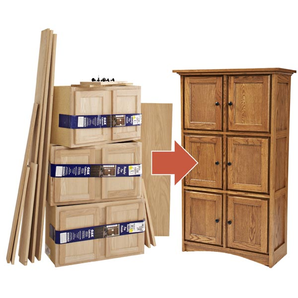 Kitchen Cabinet Woodworking Plans: Create Fine Furniture From Stock Cabinets Woodworking Plan