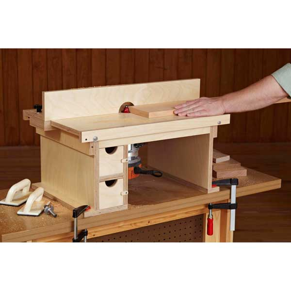 flip top benchtop router table woodworking plan from wood