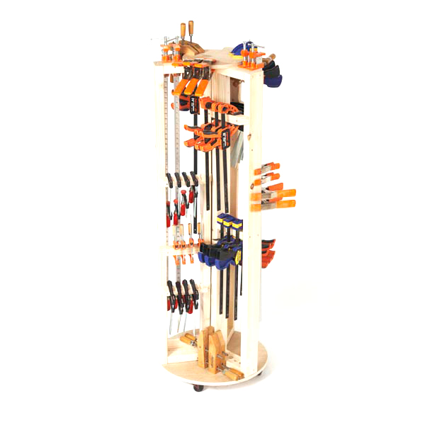 Carousel Clamp Rack Woodworking Plan From Wood Magazine