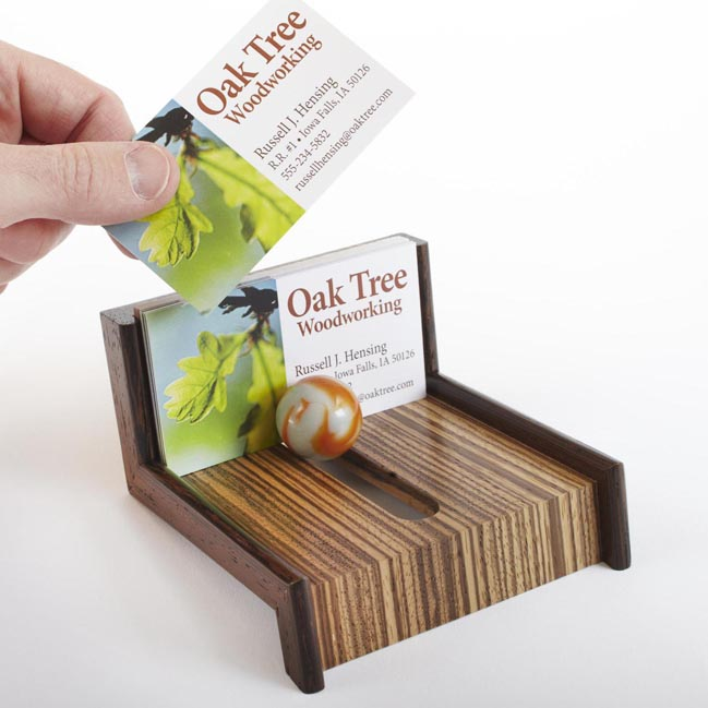 Cool As Marble Business Card Holder Woodworking Plan From Wood Magazine