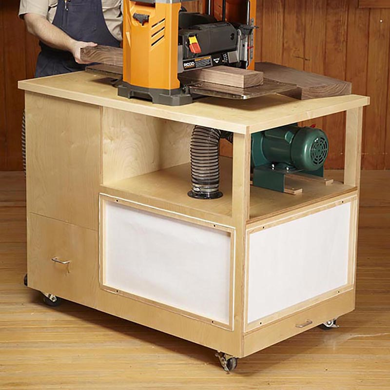 Dust Collecting Tool Stand Woodworking Plan From Wood Magazine