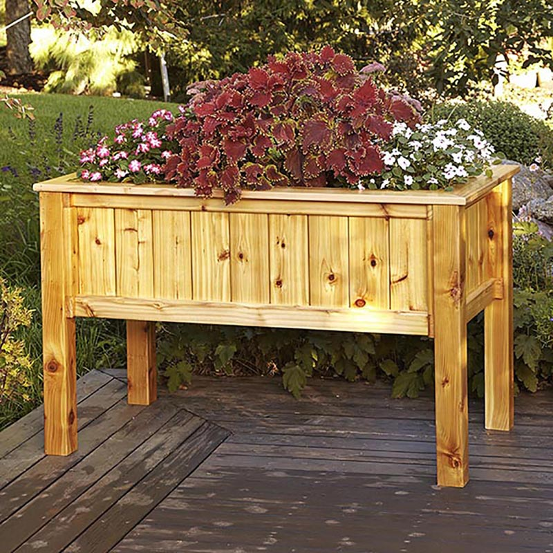 Raised planter box woodworking plan from wood magazine for Garden planter plans