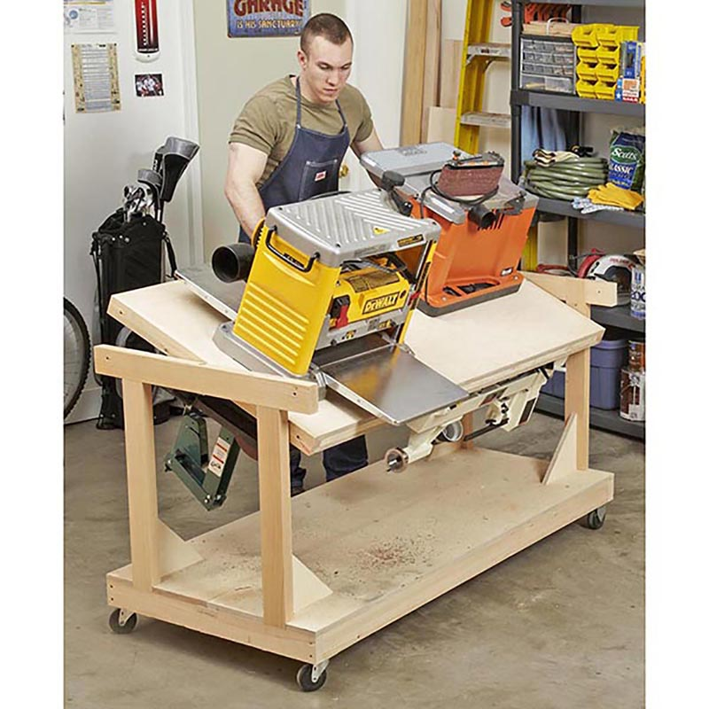 flip top tool bench woodworking plan from wood magazine