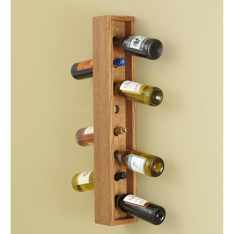 Wall-hung Wine Rack Woodworking Plan from WOOD Magazine