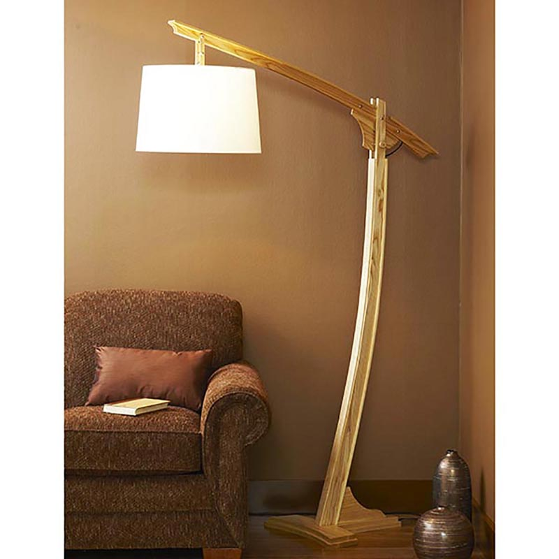 Adjustable-Arm Floor Lamp Woodworking Plan from WOOD Magazine