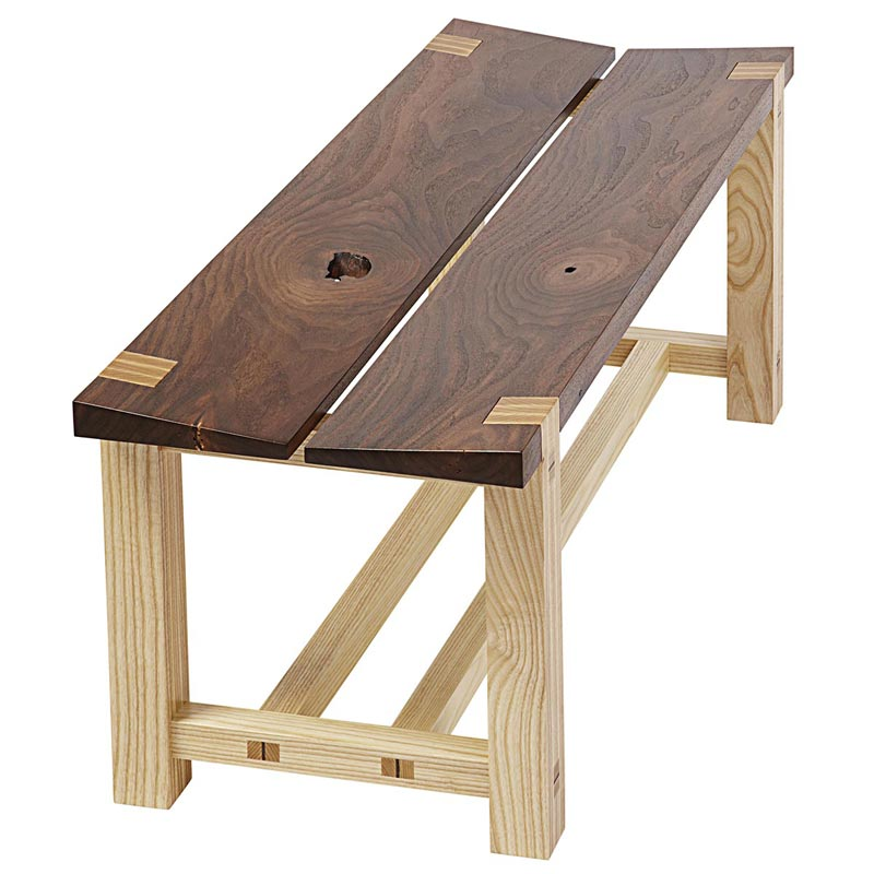 Tapered Seat Bench Woodworking Plan From Wood Magazine