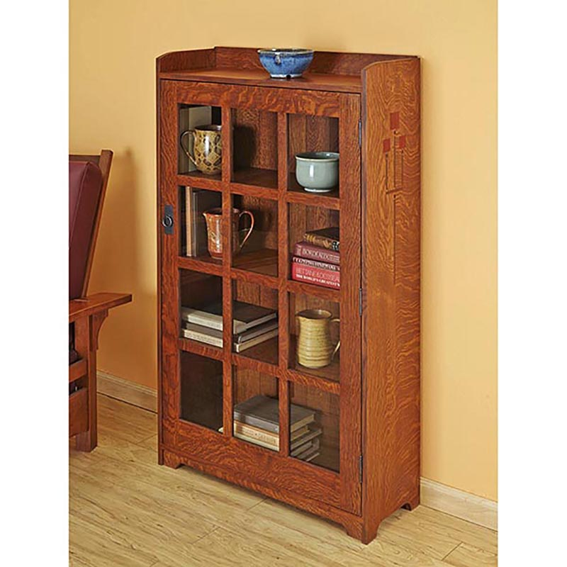 Arts and crafts bookcase woodworking plan from wood magazine for Arts and crafts bookcase