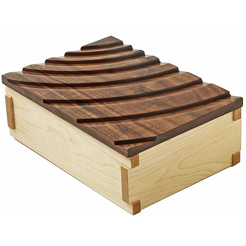 Decorative Box Plans Free : Rippling waves keepsake box woodworking plan from wood