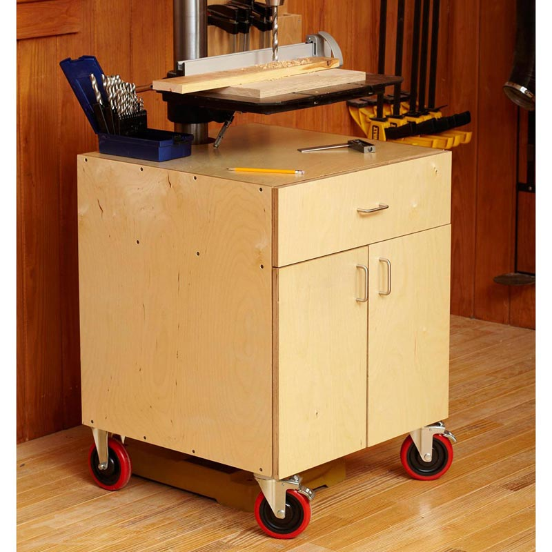 drill-press cabinet woodworking plan from wood magazine