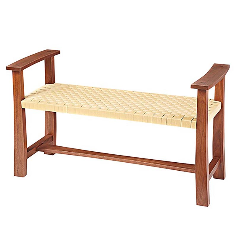 Woven Seat Bench Woodworking Plan From Wood Magazine