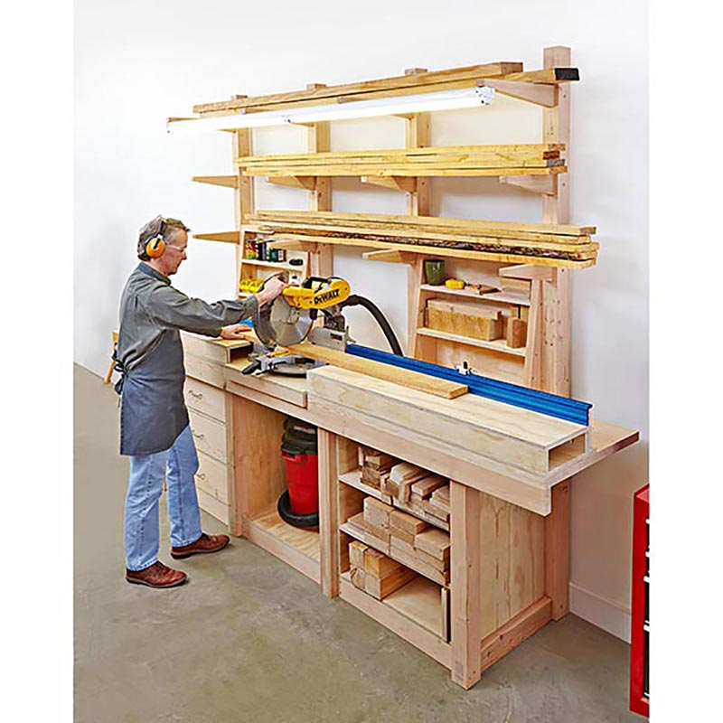 Shop Cabinets: Multipurpose Workcenter Woodworking Plan From WOOD Magazine