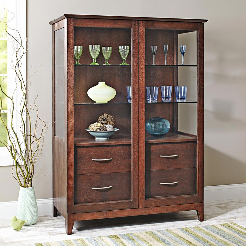 Sliding-door Curio Cabinet & Sliding-door Curio Cabinet Woodworking Plan from WOOD Magazine