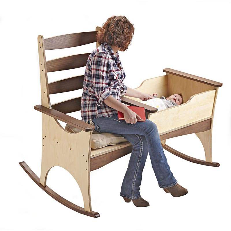 Nanny rocker woodworking plan from wood magazine for The nanny house layout