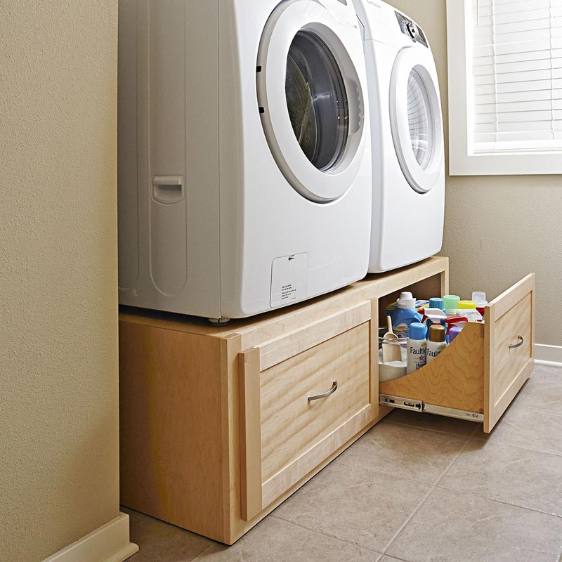 Stack On Washer Dryer Stand Woodworking Plan From Wood