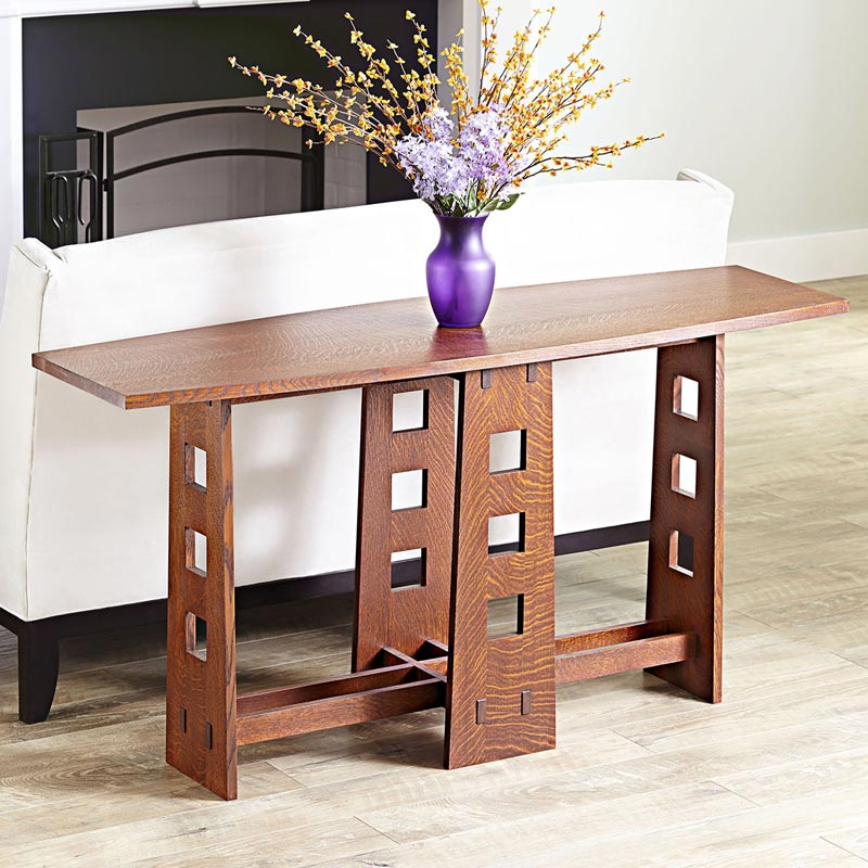 Mackintosh Style Occasional Table Woodworking Plan, Furniture Tables