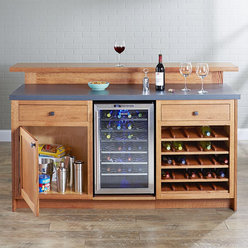 Home Bar Plans: Party Central Home Bar Woodworking Plan From WOOD Magazine