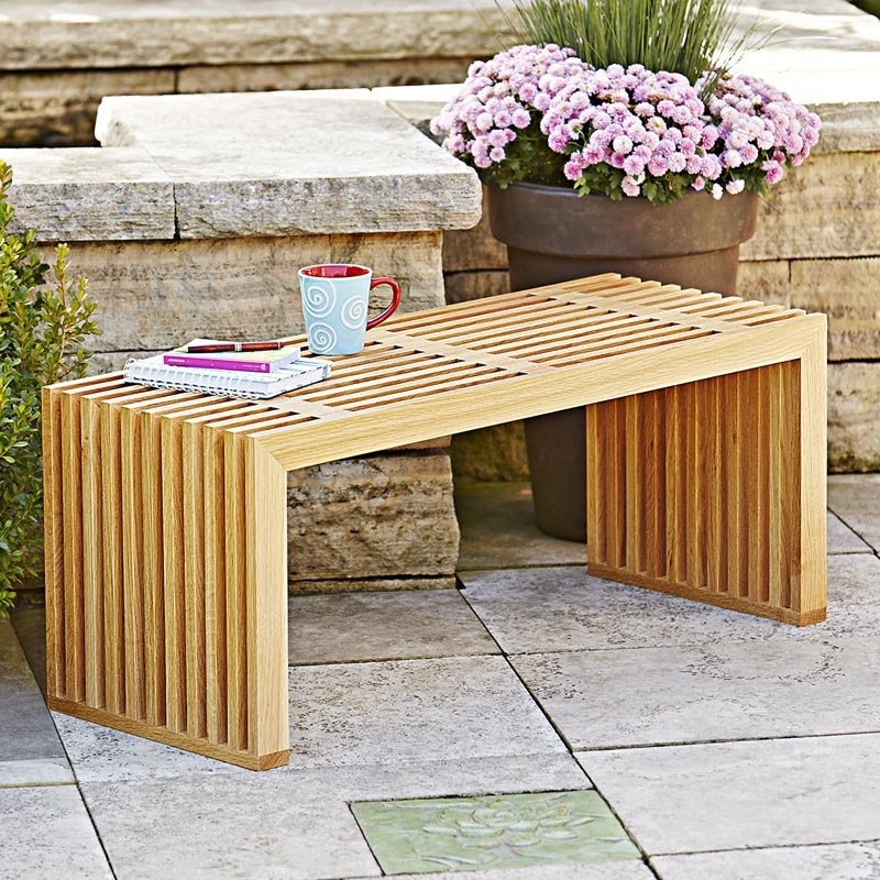 All Seasons Bench Woodworking Plan, Furniture Seating Outdoor Outdoor  Furniture