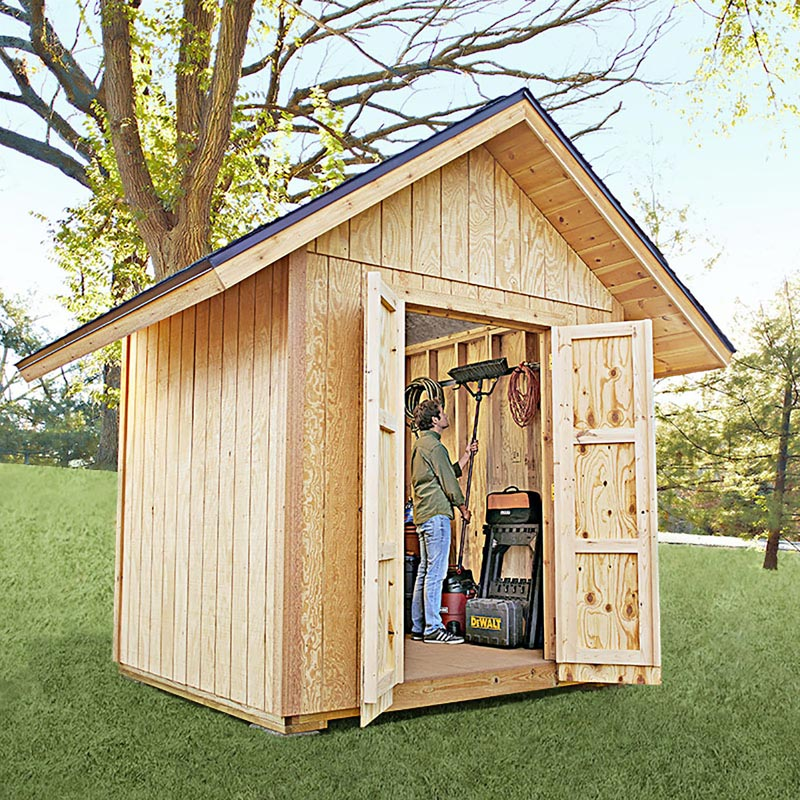 Backyard shed woodworking plan from wood magazine for Yard barn plans