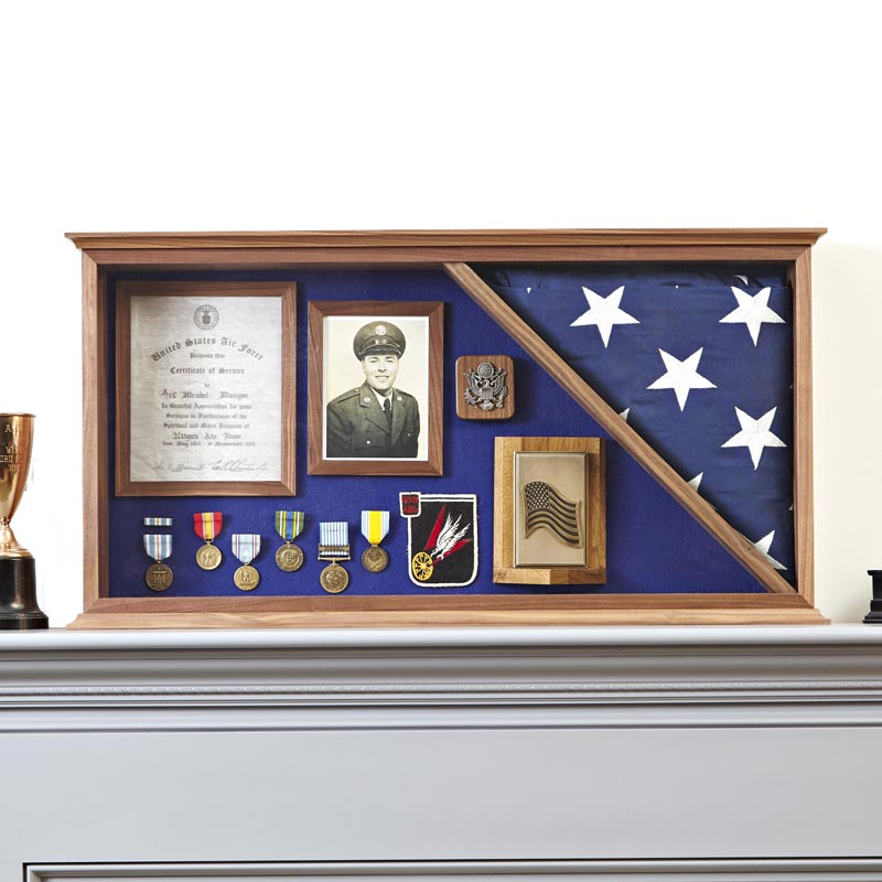 Military Memories Display Case Plan from WOOD Magazine