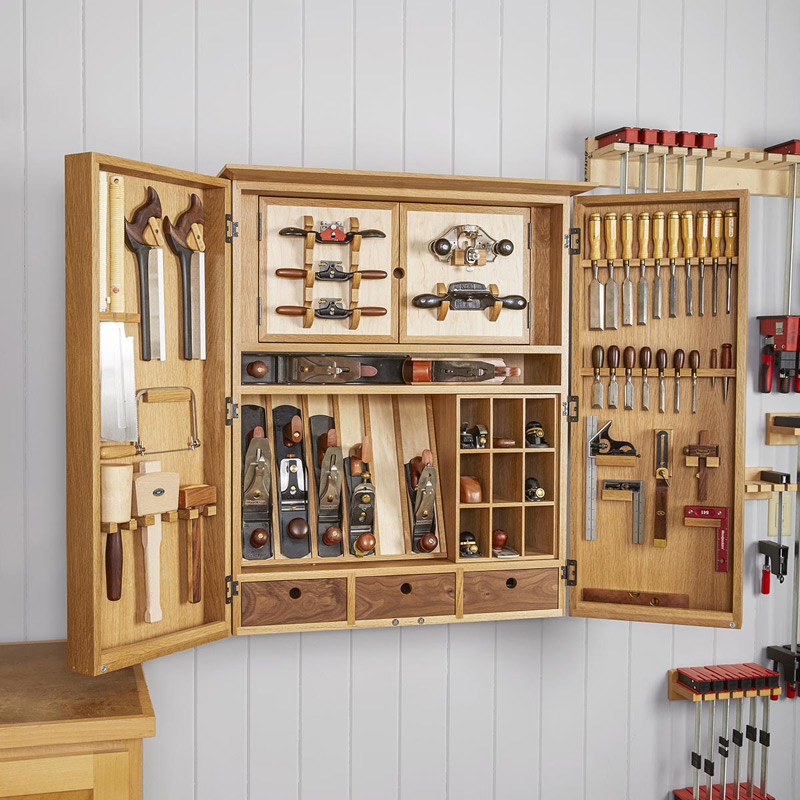 Flexible Garage Wall Storage: Heirloom Hand-Tool Cabinet Plan From WOOD Magazine