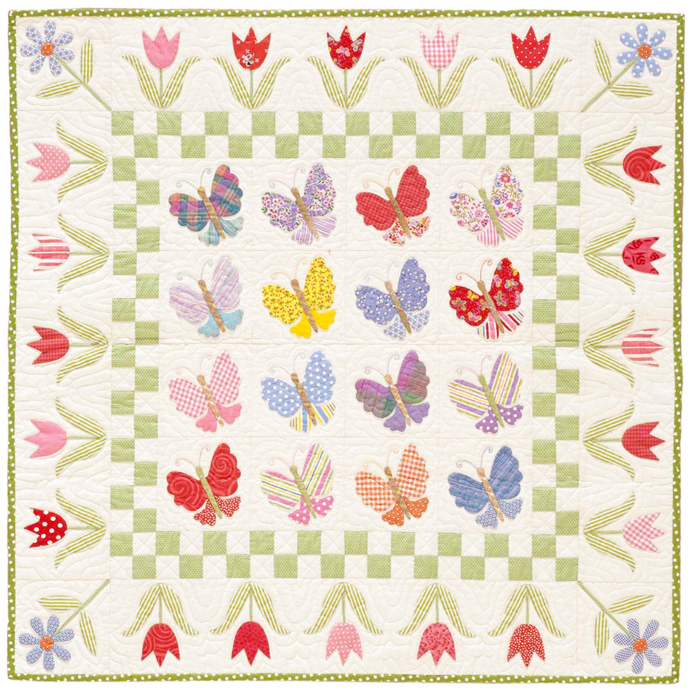 Butterfly Garden Quilting Pattern From The Editors Of