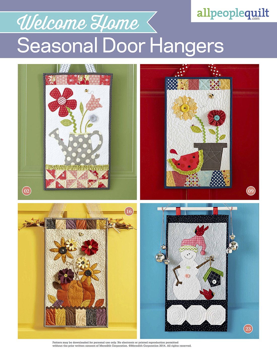 Welcome Home Seasonal Door Hangers