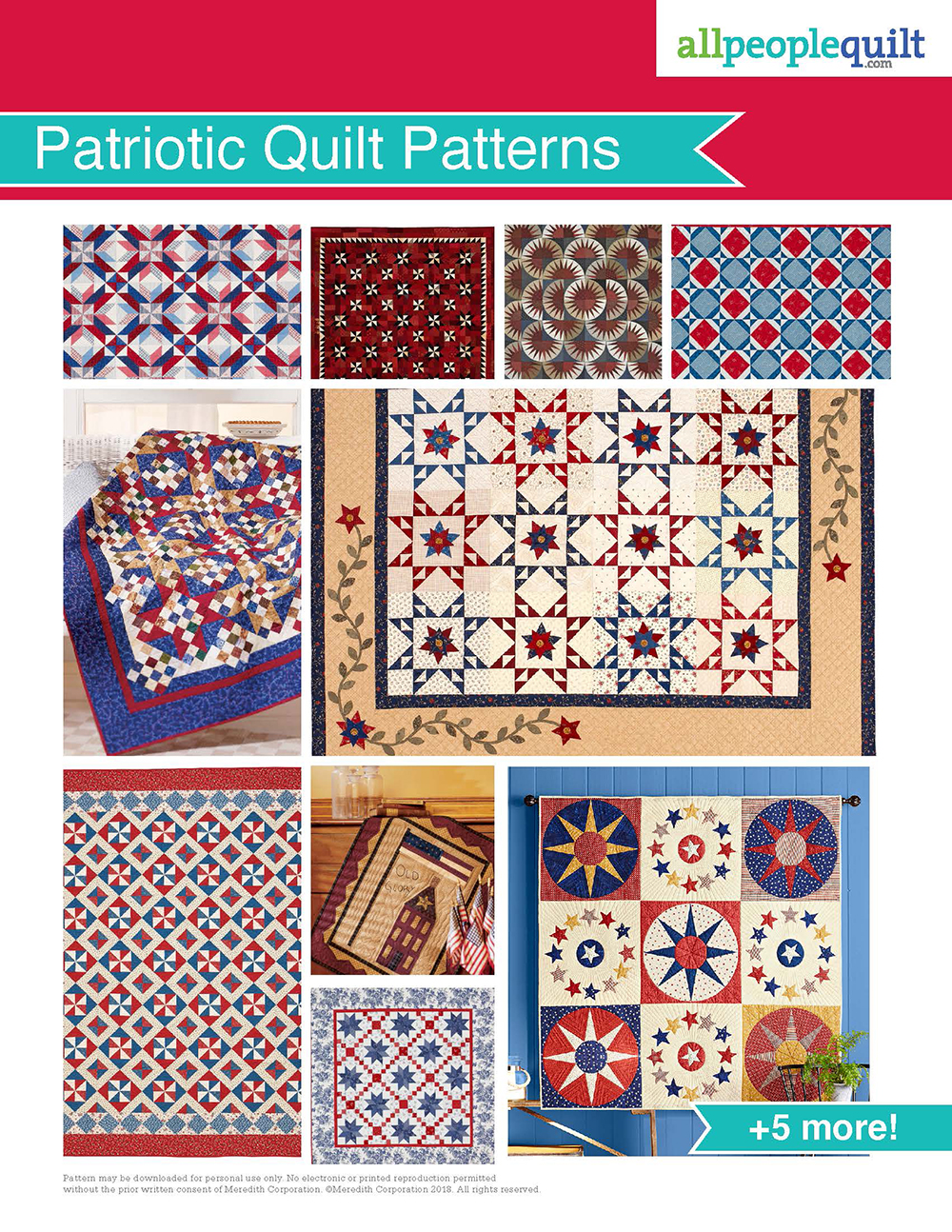 Patriotic Quilt Patterns Plan From American Patchwork Quilting