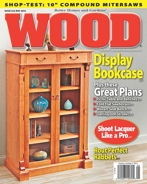 WOOD Issue May Woodworking Plan From WOOD Magazine - Better homes and gardens wood magazine