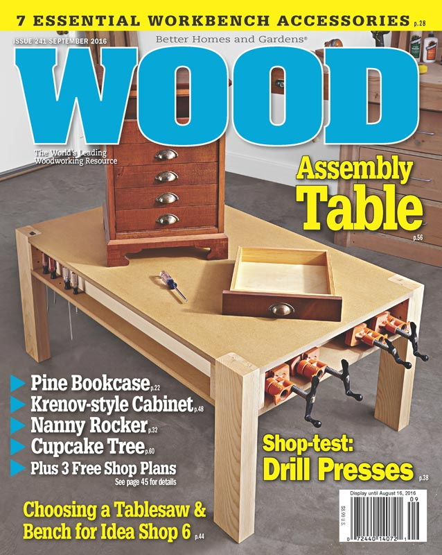 WOOD Issue September Woodworking Plan From WOOD Magazine - Better homes and gardens wood magazine