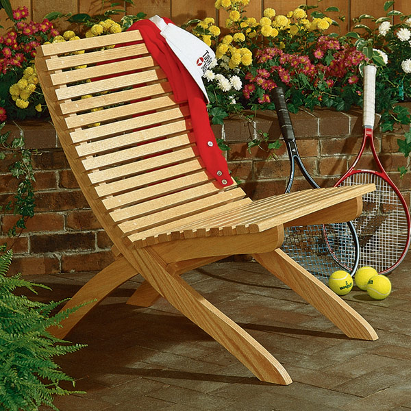 Outdoor Wood Chair Plans ~ Two part chair large format paper woodworking plan from
