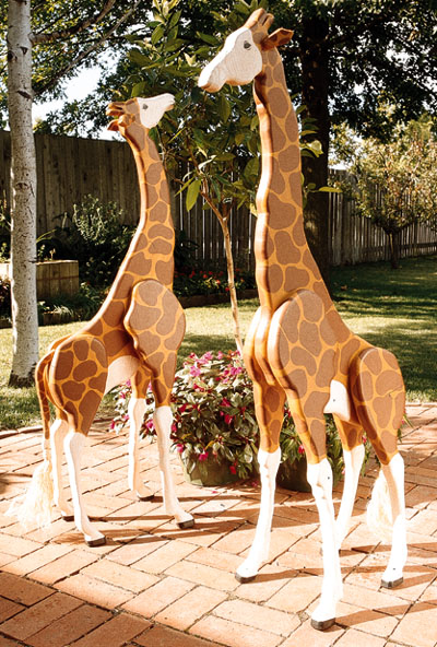 4 Foot Giraffes Large Format Paper Woodworking Plan From